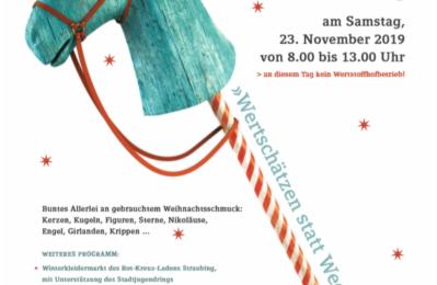 Flyer zum Grßen Weihnachtsflohmarkt im Entsorgungszentrum in Straubing